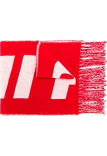 Ami Paris Echarpe Com Logo - Branco