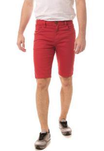 Bermuda Jeans Eventual Middle Telha Masculina - Masculino-Vermelho