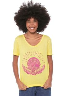 Camiseta Oh, Boy! Estampada Amarela