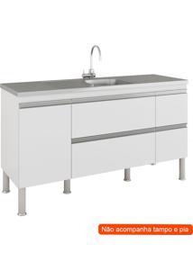 Balcão De Cozinha Prisma 2 Pt 3 Gv Branco
