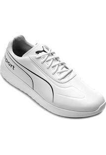 Tênis Puma Bmw Mms Speed Cat Evo Synth Masculino - Masculino-Branco+Preto