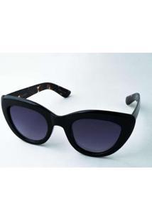 Óculos De Sol Perla Prado Laisla Feminino - Feminino-Preto