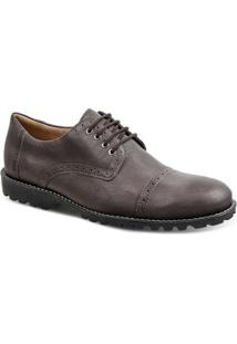 Sapato Social Masculino Derby Sandro & Co Ibat - Masculino-Cafe