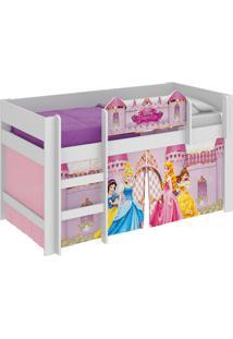 Cama Princesas Disney Play Branco Pura Magia