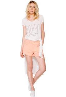 Maxi Camiseta Tokyo Colcci - Feminino-Off White