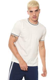 Camiseta Fiveblu Recortes Off White