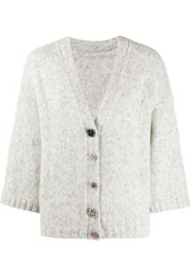 Ba&Sh Cropped Sleeve Cardigan - Cinza