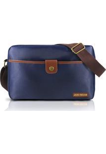 Bolsa Transversal Jacki Design Ahl17208 Azul E Marrom