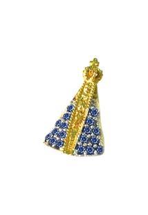 Pingente Pratamil Nossa Senhora De Ouro Com Zircônia - Feminino-Ouro