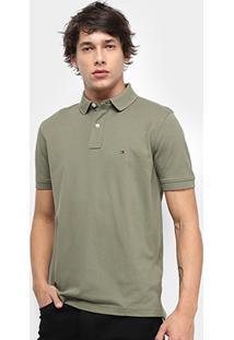 Camisa Polo Tommy Hilfiger Regular Masculina - Masculino-Verde Militar