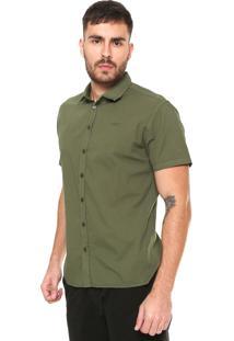 Camisa Colcci Slim Fit Básica Verde