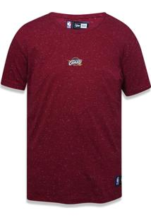 Camiseta New Era Basico M/C Cleveland Cavaliers Vermelho Escuro