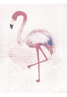 Quadro Decorativo Flamingo Estampa Rosa