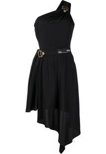 Versace Jeans Couture One-Shoulder Cut Out Dress - Preto