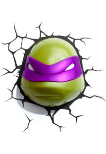 Luminária Tartarugas Ninjas Donatelo Roxa 3D Light Fx