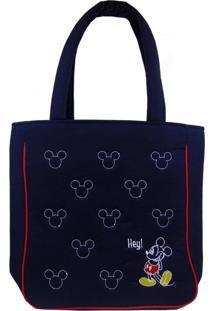 Bolsa Lua Nova Grande Casual Mickey Azul