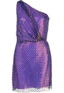 Michelle Mason Vestido Ombro Único - Roxo