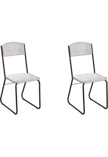 Conjunto Com 2 Cadeiras Byron Palha E Preto