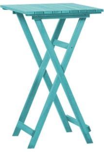 Mesa Alta Dobrável Bistrô Stain Azul - Mão & Formão