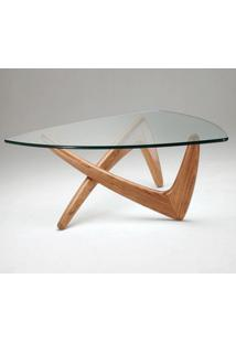 Mesa De Centro Austrália Tampo De Vidro Design Studio Clássica