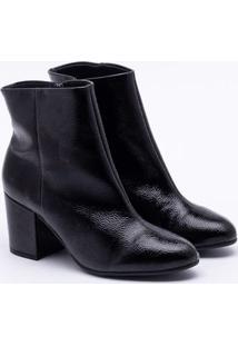 Ankle Boot Sandra Verniz Preta 35