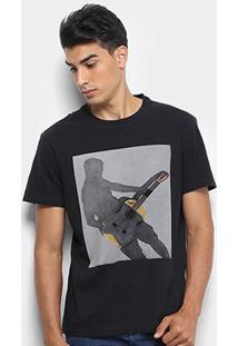 Camiseta Reserva Estampanda Alma Timbre Masculina - Masculino-Preto