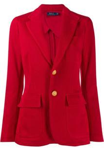 Polo Ralph Lauren Blazer De Jersey - Vermelho