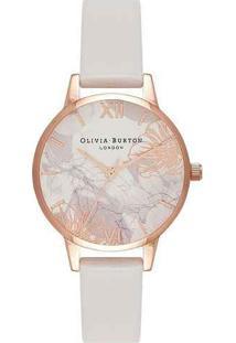 Relógio Olivia Burton Feminino Couro Nude - Ob16Vm12