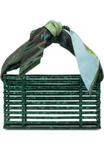 Montunas Bolsa De Mão Com Detalhe De Lenço - Verde