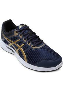 Tênis Asics Gel Excite 5 A Masculino - Masculino-Azul+Dourado