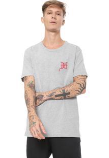Camiseta Ed Hardy Flaming Skull Cinza