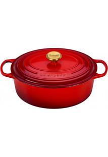 Panela Oval Com Pegador Golden 31 Cm Vermelho Le Creuset