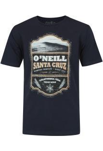 Camiseta O'Neill Estampada Scotch Label - Masculina - Azul Escuro