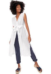 Vestido Cantão Curto Túnica Liso Branco