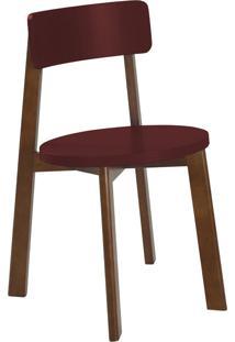 Cadeira Lina 75 Cm 941 Cacau/Bordo - Maxima
