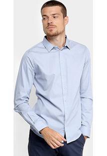 Camisa Forum Slim Fit Masculina - Masculino-Azul Claro