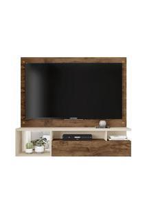Painel Para Tv 55' Black 0630 Jatobá/Off White - Caemmun