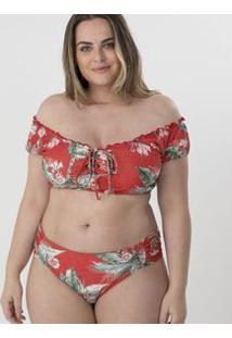 de416936f ... Biquíni Calcinha Com Lateral Drapeada Floral Curve & Plus Size