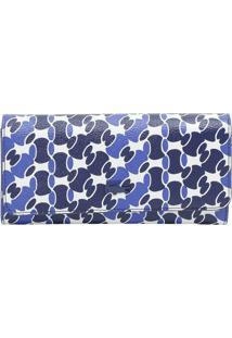 Carteira Com Tag - Azul Marinho & Branca - 11X19X2Cmlacoste