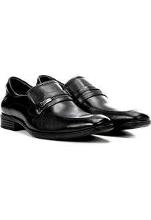 Sapato Social Couro Democrata Alpha Flex - Masculino-Preto