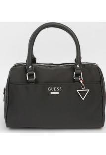 Bolsa Lisa Com Bolso- Preta- 21X27X13Cm- Guessguess