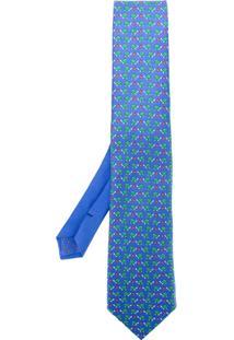 Etro Gravata De Seda Estampada - Azul