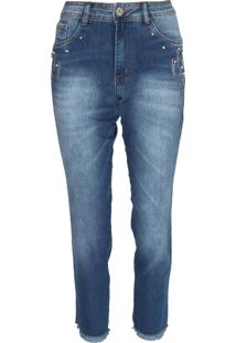 Calça Jeans Biotipo Skinny Cropped Alice Azul - Kanui