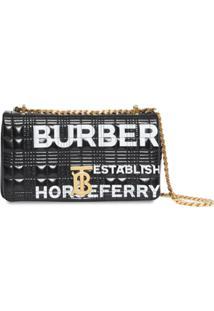 Burberry Bolsa Transversal Lola Matelassê Com Logo - Preto