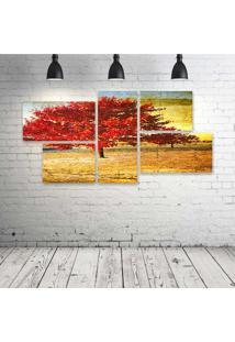 Quadro Decorativo - Background83 - Composto De 5 Quadros - Multicolorido - Dafiti