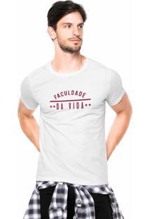 Camiseta Rgx Faculdade Da Vida Branca
