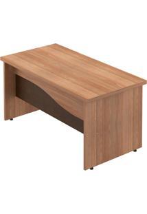 Mesa Para Escritório 3 Gavetas Ornare 180Cm Plata Móveis Amêndoa/Ruggine