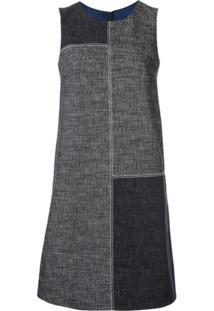 Paule Ka Vestido Reto Color Block - Azul