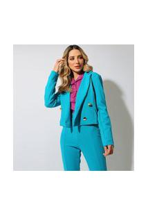 Blazer Cropped Eight Brand Yasmin Feminino