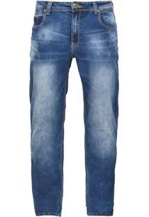 Calça Jeans Crocker Reta Oversize Azul